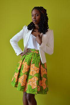 Meet Miriam! Simply Cecily's newest box pleated skirt! ~African fashion, Ankara, kitenge, African women dresses, African prints, African men's fashion, Nigerian style, Ghanaian fashion ~DKK