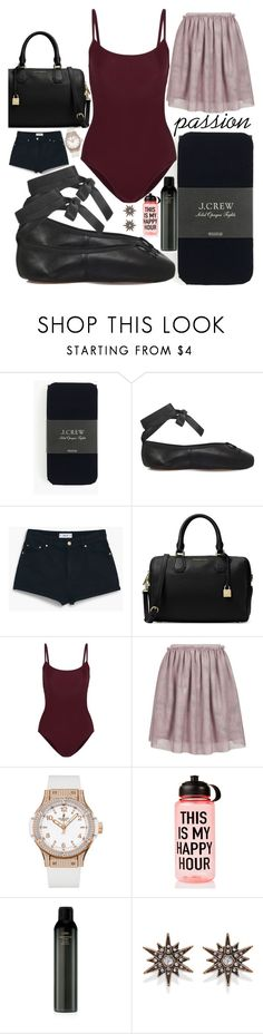 """""""Untitled #352"""" by sassymermaid ❤ liked on Polyvore featuring J.Crew, Opera National de Paris, MANGO, Ballet Beautiful, Topshop, Hublot, Ankit, Oribe and Forever 21"""