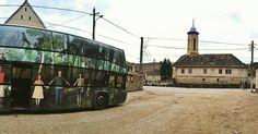 """Azi suntem la Școala Gimnazială """"Octavian Goga"""" din Rășinari."""
