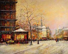 Guy Dessapt 1938 Impressionist Paris autumn