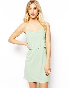 ASOS Cami Dress with Scallop Layer