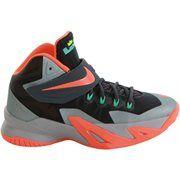 Youth Nike LeBron Dark Magnet Grey/Light Magnet Grey/Hyper Turquoise/Hyper Crimson Zoom Soldier VIII Basketball Shoe