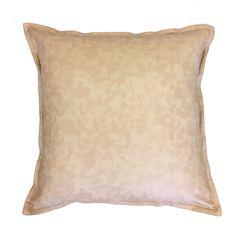 Boston Nude Leather Look Cushion available from www.madraslinkonline.com.au