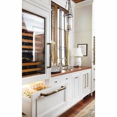 Seriously Dream It. Sweet Bar With Wine Fridge And Beer/mixer Cooler Drawers.  Two Built In Fridge Drawer In Bottom Pantry (one For Beer, And One Drawer  For ...
