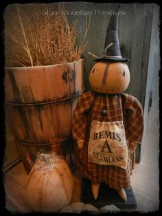 Pumpkin Head Witch Doll https://www.facebook.com/pages/Starr-Mountain-Primitives/228548684018?ref=bookmarks
