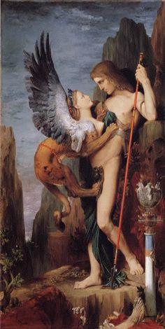Gustave Moreau. Le Sphinx     1864.     Metropolitan Museum