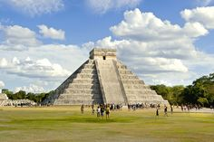 PRE-HISPANIC CITY OF CHICHEN-ITZA, MEXICO:  A blend of cultural influences and architectural styles, UNESCO describes Chichen-Itza as one of the important examples of the Mayan-Toltec civilization on Mexico's Yucatán peninsula. Occupied for a millennia, the site boasts several stunning structures such as the Warriors' Temple, El Castillo (pictured) and the circular observatory known as El Caracol. It was declared a World Heritage Site in 1988.