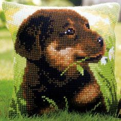 Rottweiler Puppy: zelf te borduren in kruissteek