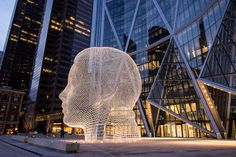 metal sculpture art installation