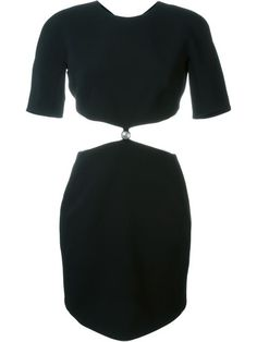 Shop Mugler cut-out mini dress in Curve from the world's best independent…