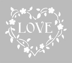 Pochoir Adhésif Home Déco 12 x 10 cm COEUR + LOVE Decoupage, Disney Diy Crafts, Engraving Art, Stencil Patterns, Kirigami, Cricut Design, Food Art, Vinyl Decals, Crafts For Kids