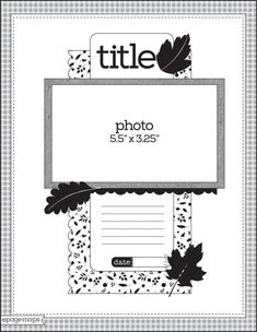 Scrapbook Layout Sketches, Scrapbook Templates, Scrapbook Designs, Card Sketches, Scrapbook Paper Crafts, Scrapbook Albums, Scrapbooking Layouts, Project Life, Page Maps