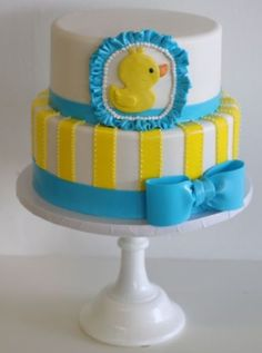 This Rubber ducky cake would be a great idea for a baby shower!