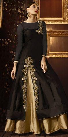 Exquisite Brown Reception Wear Anarkali Suit http://www.fashionfiza.com/salwar-kameez/anarkali-suits