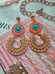 Sherbert sunrise earrings $22 http://www.popofchic.com/earrings/sherbert-sunrise-earring
