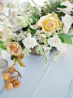 The sweetest wedding flower close up.