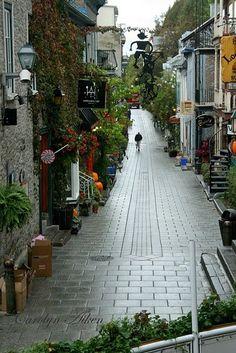 ღღ ♥ Rue Petit Champlain  Beautiful Old Quebec City, Canada