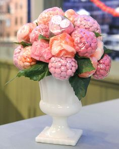 candy flowers- CUTE!