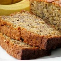 Banana Oatmeal Bread~This is my go to recipe, so good! I sub butter and brown sugar, and have used both all purpose and cake flour, and its great every time