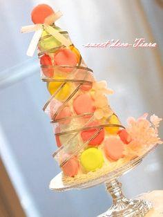 Macaron Tower, Macarons, Pineapple, Fruit, Food, Pine Apple, Essen, Macaroons, Meals