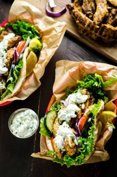 30 Minute Chicken Gyros with Tzatziki. These super easy-to-make Greek-style sandwiches are filled with lemony chicken and cooling cucumber tzatziki. Perfect for a weeknight!