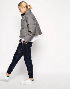 ASOS White | Grey Marl Quilted Jacket at ASOS