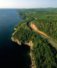 America& Most Iconic Drives: Highway 61 along Lake Superior, MN Grand Portage State Park, Illinois, Mississippi, Minnesota, Ontario, Wisconsin, Michigan, Elkhart Lake, Lake Superior