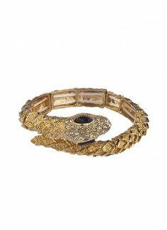 Serpentine Stone Bangle Gold at Prima donna
