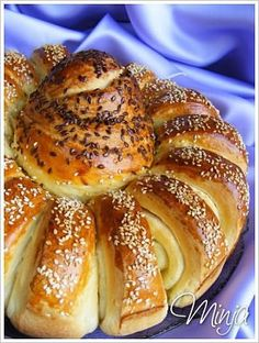 Croatian Recipes, Hungarian Recipes, Russian Recipes, Pogaca Recipe, Bread Display, Bread Recipes, Cooking Recipes, Torte Recepti, Cheesecake Ice Cream