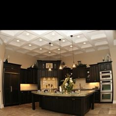 Love the idea of having an unusual and beautiful ceiling in the new kitchen. This is one idea.