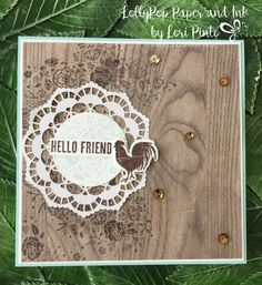 Stampin' Up! Wood Words Stamp Set and Bundle, Wood Textures DSP