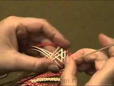 Плетение из соломы Лист двухцветный.mp4 - YouTube