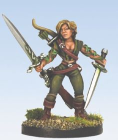 Pathfinder Chronicles Miniatures: Ranger of Erastil. Reaper Metal Miniature.