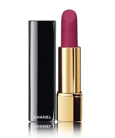 Chanel Rouge Allure Velvet Lipstick in La Romanesque - If you're looking for the perfect matte lipstick, we found it. Chanel Make-up, Chanel Rouge, Chanel Lipstick, Velvet Lipstick, Long Wear Lipstick, Chanel Beauty, Velvet Matte, Lipstick Shades, Makeup Products