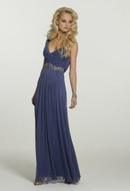 Mesh Cowl Neck Long Dress from Camille La Vie and Group USA