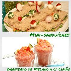 Mini-Sanduíches e Granizado de Melancia com Limão - Clique na imagem para encontrar as receitas