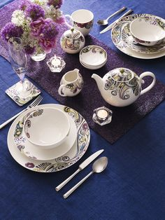 Patterned china #home #tea #teacup & Elegant tableware collection designed by RJR. John Rocha. | Spring ...