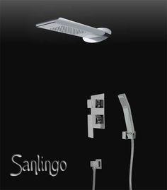 Details Zu Komplettes Chrom Dusch Set Regenschauer Wasserfall Unterputz  Umsteller Sanlingo
