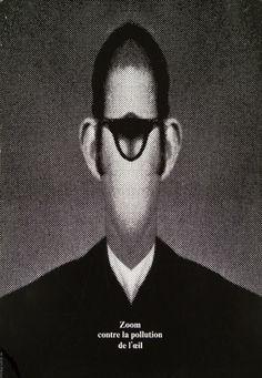 Roman Cieslewicz. Zoom : contre la pollution de l'oeil. 1972.
