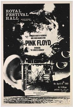 Pink Floyd in the Royal Festival Hall poster