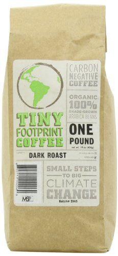 Tiny Footprint Coffee Organic Dark Roast Ground Coffee, 16-Ounce Bags (Pack of 2) - http://teacoffeestore.com/tiny-footprint-coffee-organic-dark-roast-ground-coffee-16-ounce-bags-pack-of-2/