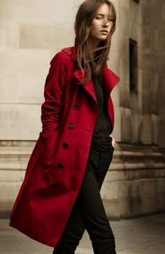 burberry coat outlet brxn  Profile: Burberry Heritage Trench Coat Collection in Navy and Parade Red   Luxury Insider