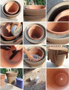 Fabriquer son frigo du désert : 2 pots en terre cuite non émaillés (un gros et…