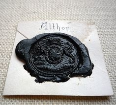 Althorp wax seal ~ As this seal is in black, it would indicate that the sender was either in mourning or to pronounce a death. Althorp is the family seat of the Spencer family or better known as the ancestral home and now burial place of Princess Diana.