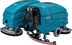 The Tennant 5680 floor scrubber can be used with traditional chemicals or with Tennant's new ec-H2O chemical-free cleaning technology. With a low profile corrosion-resistant scrub deck, the 5680 can clean hard-to-reach areas under toe-kicks and against baseboards.  Large-capacity solution and recovery tanks will provide longer scrub times, up to 3.5 hours!  No tools are required to change squeegee blade, so you save time.  Cylindrical units pre-sweep the area, so you can sweep while you…