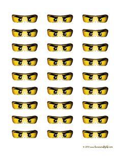 Ninjago Eyes Printable for sucker pops - valentines
