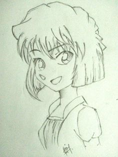 Does she look like Haibara Ai?  I just try to draw her :v