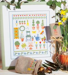 Garden Sampler free cross stitch pattern from www.coatscrafts.pl