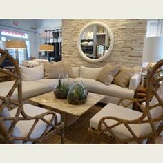 Homenature Del Mar Sectional And Vintage Chairs I440wki6