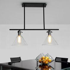 2-Tier Double Glass Chandelier: Home lighting,vintage lighting,light fixture, chandelier, lamp, hanging lighting, pendant light, industrial lighting.  http://www.zosomart.com/home-living/lamps-lighting/restoration-new-barn-industrial-vintage-pendant-chandelier-glass-w-led-bulbs.html